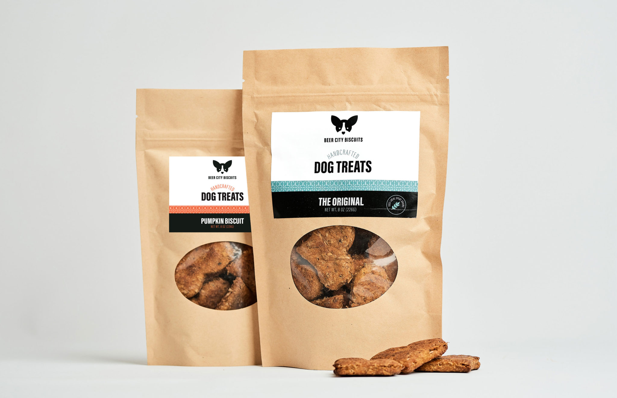 Beer City Biscuits dog treat package