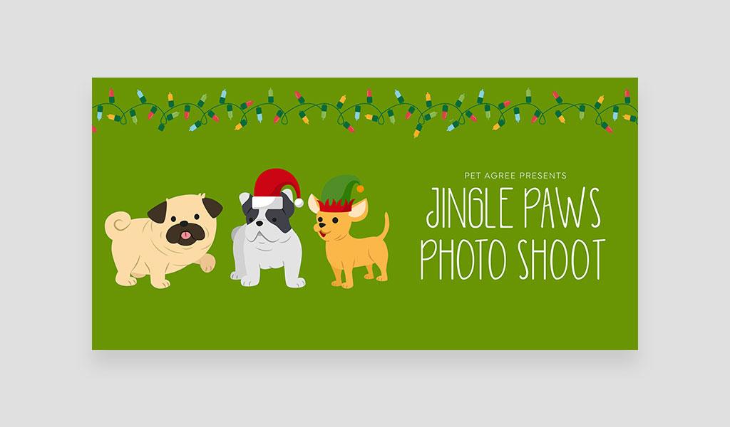 jingle paws photoshoot banner