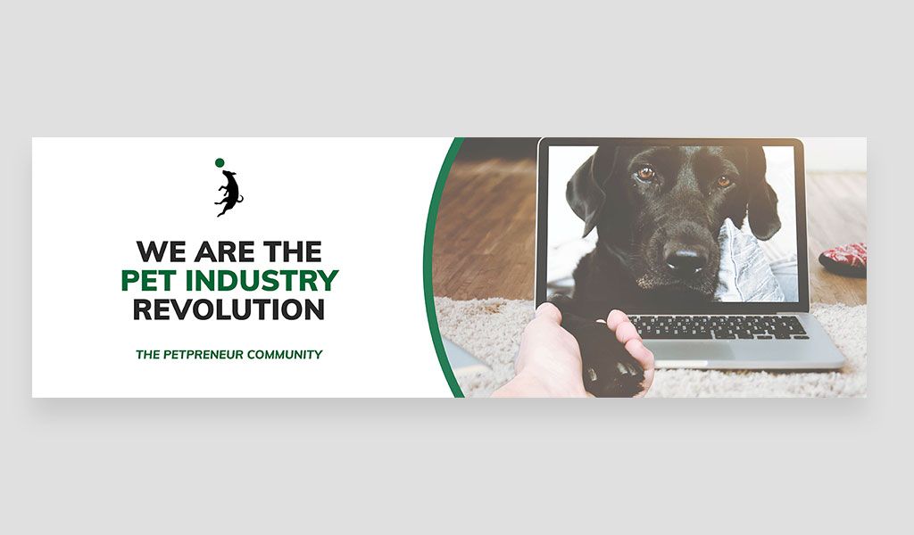 we are the pet industry revolution banner