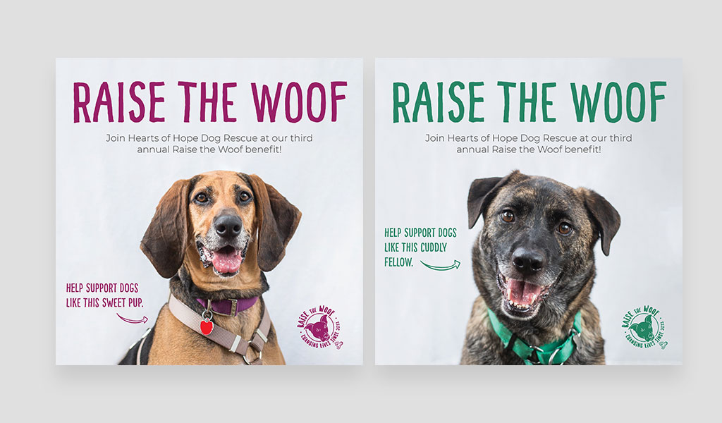 raise the woof event poster