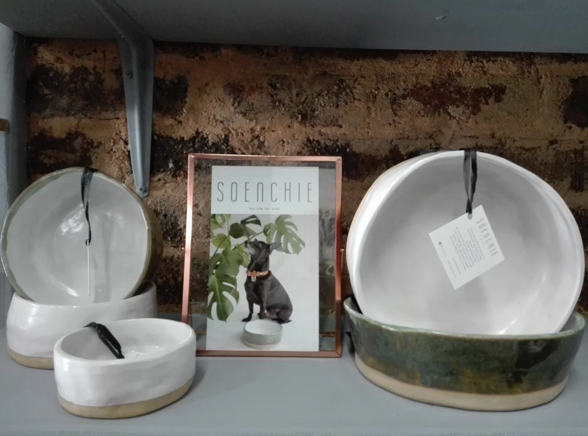 bowls on display