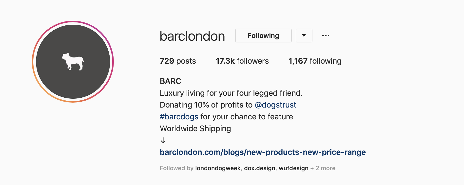 barclondon instagram page