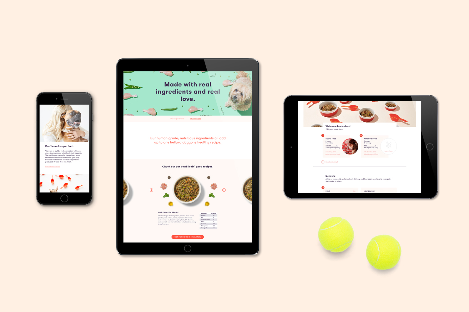 website on mobile, and tablet