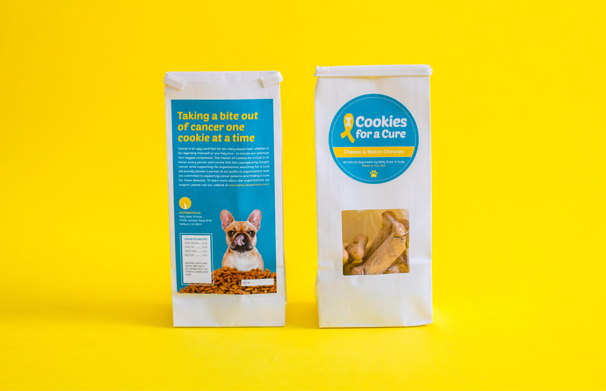 Cookies For A Cure dog treat package