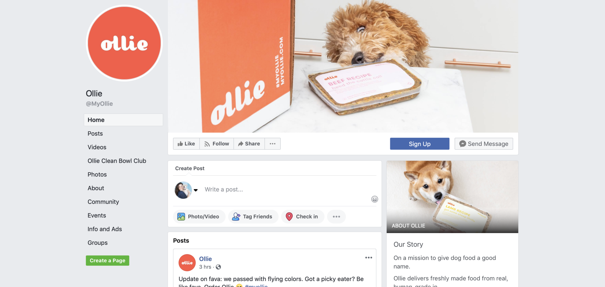 Ollie's facebook page