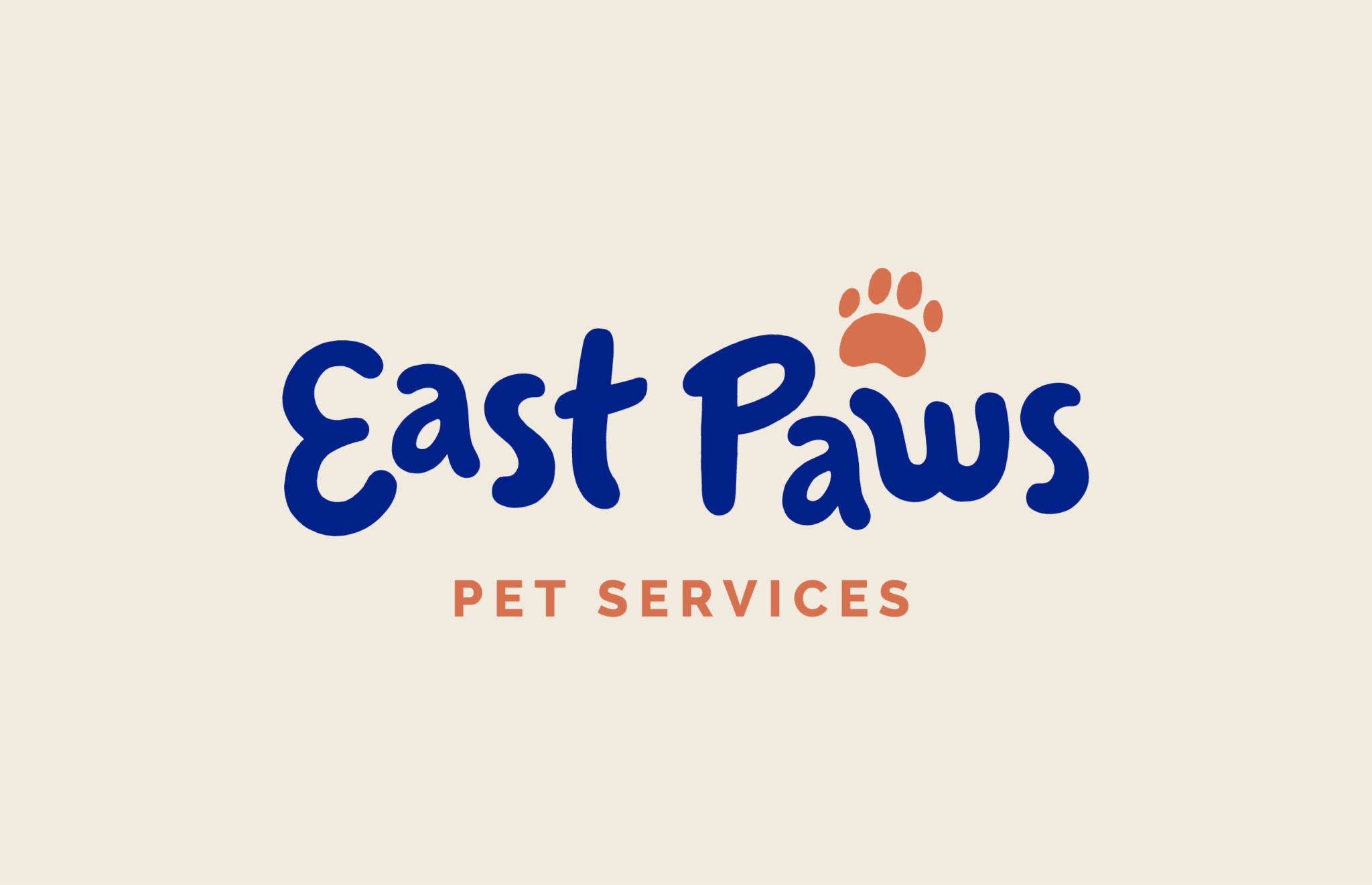 logo design for East Paws Pet Services, done by Dox Design