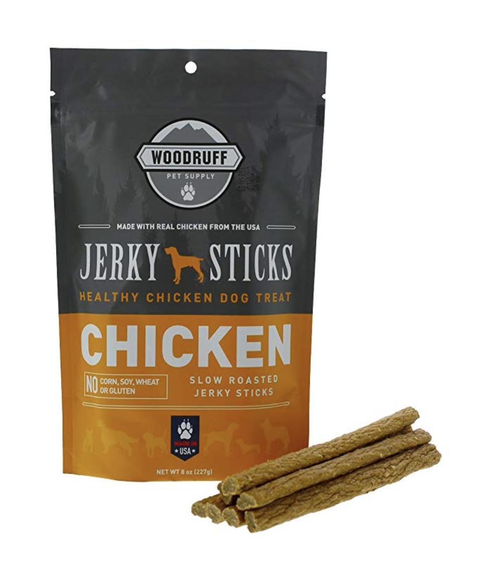 chicken dog treat package