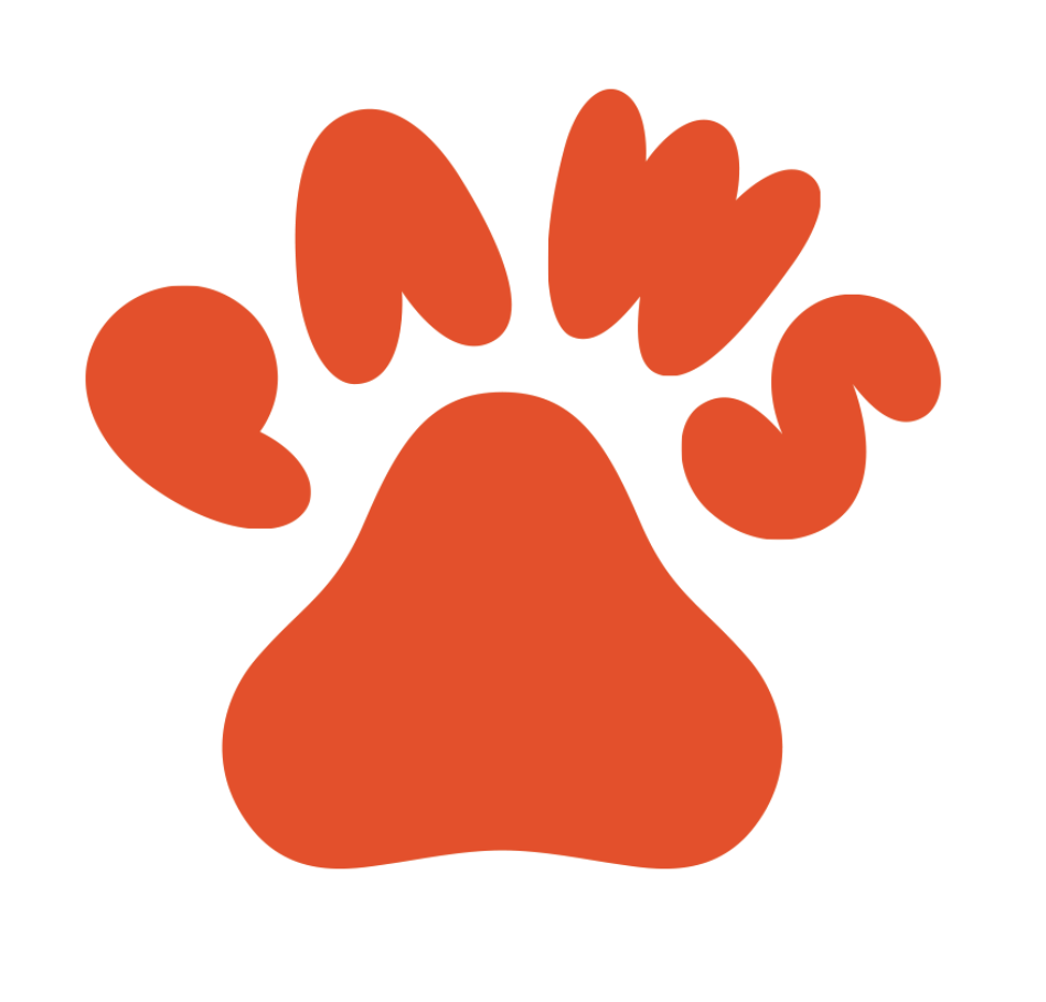 red paws logo with paw print