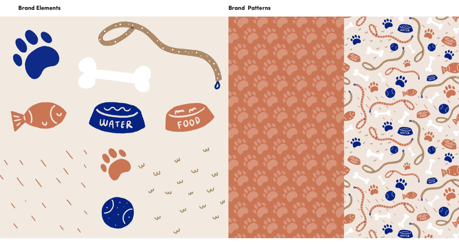 dog paw patterns