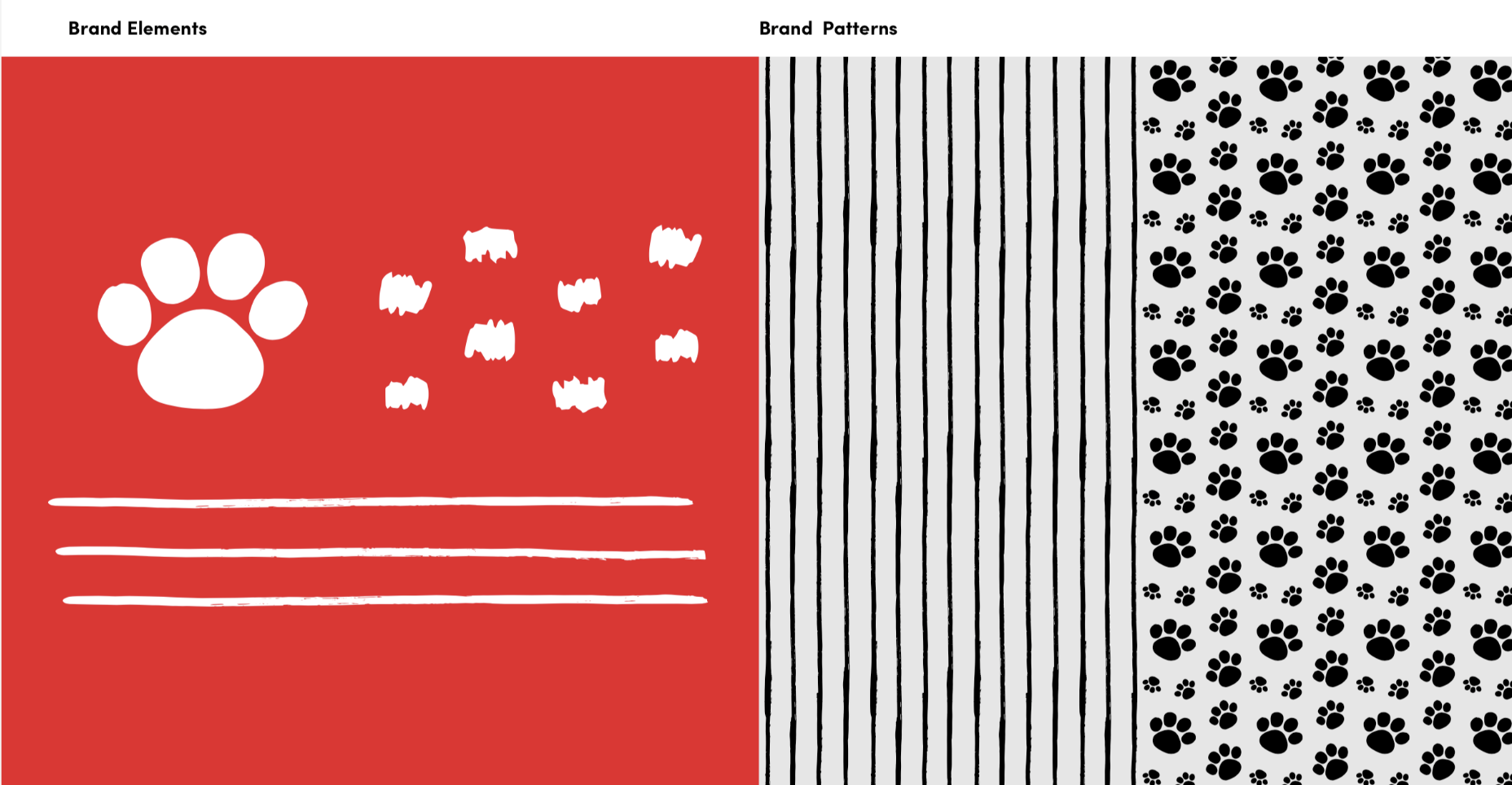 red and black and white stripe patterns
