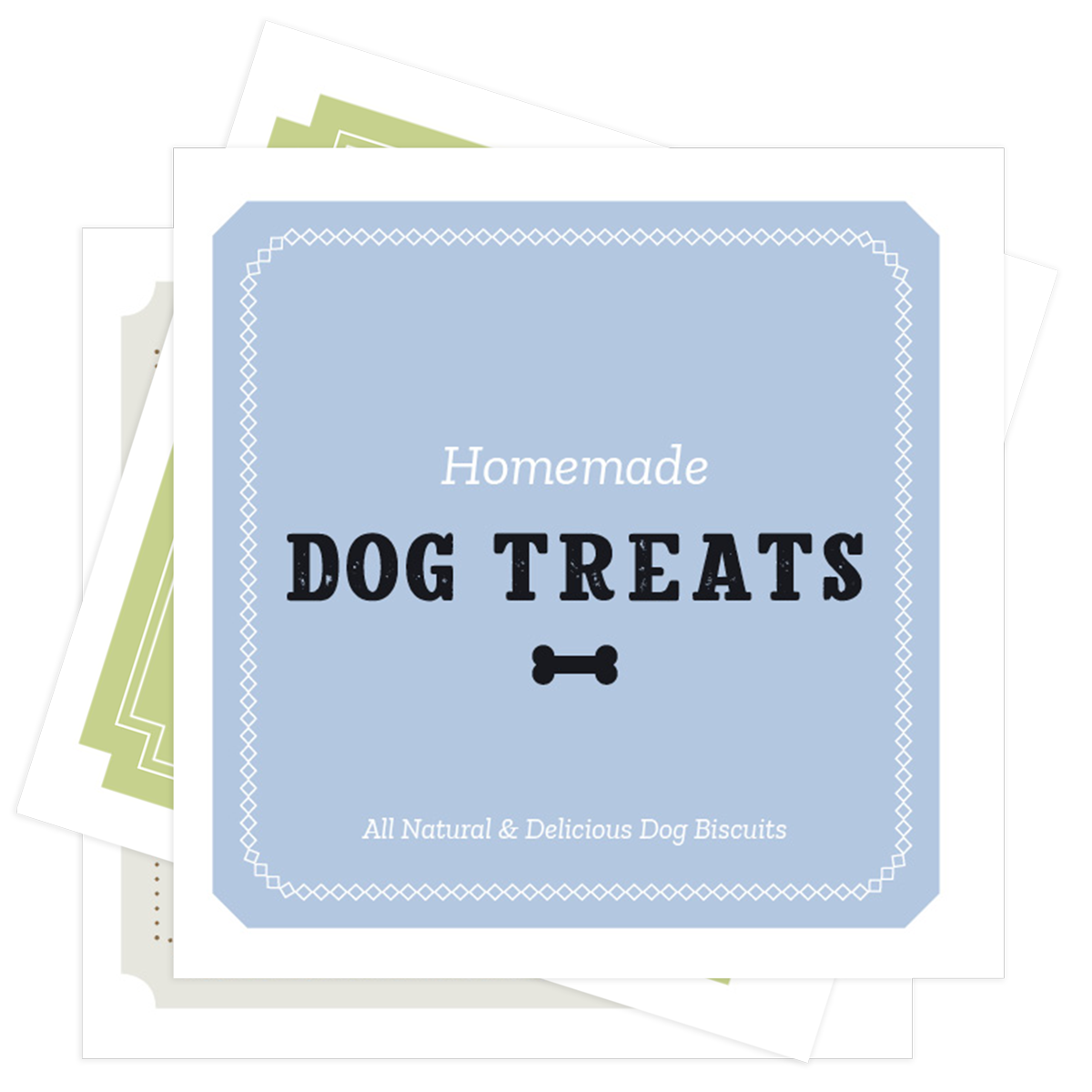 Homemade Dog Treats labels
