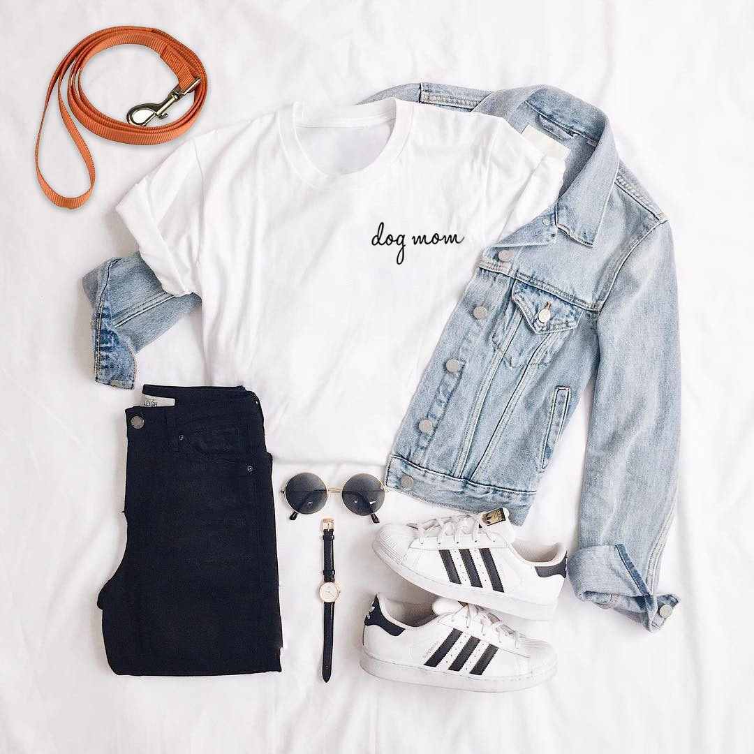 outfit layed out on white sheet
