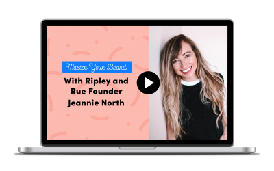 All Things Business Creativity and Creation with Jeannie from Ripley & Rue (2020 Webinar Series)