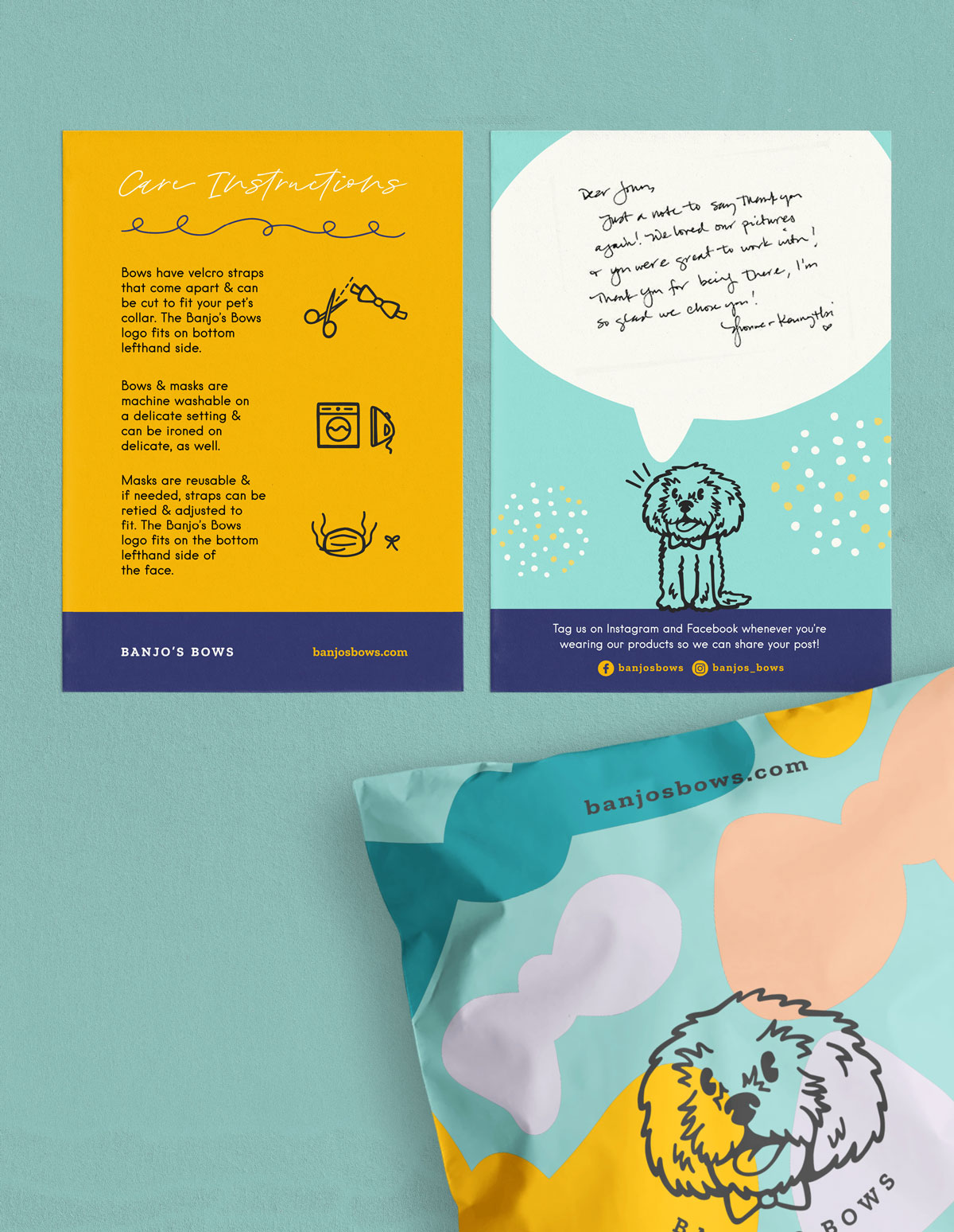 product flyer and package
