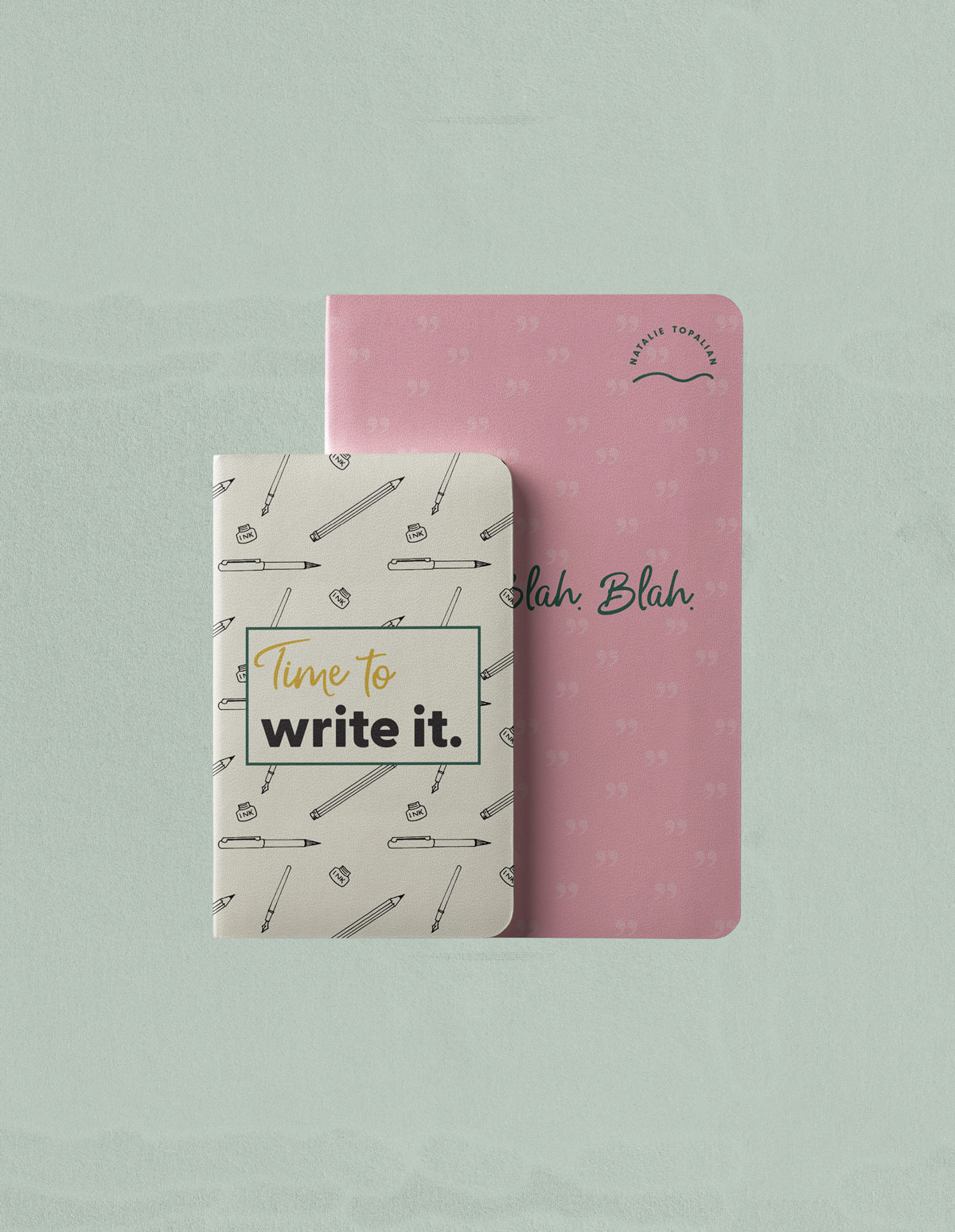 two notebooks