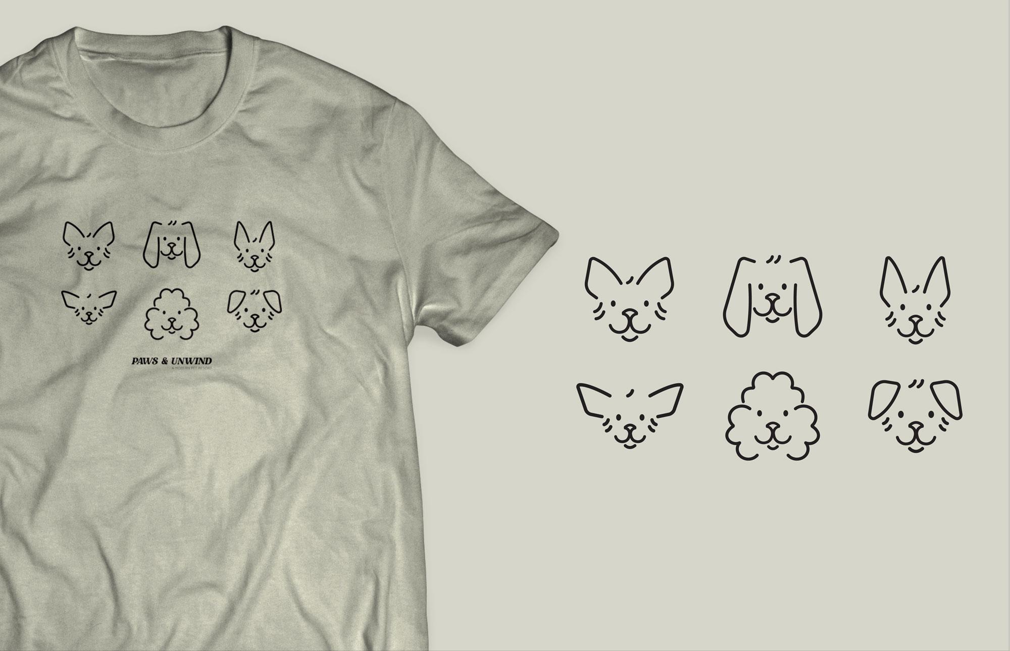 custom dog icon tee shirt