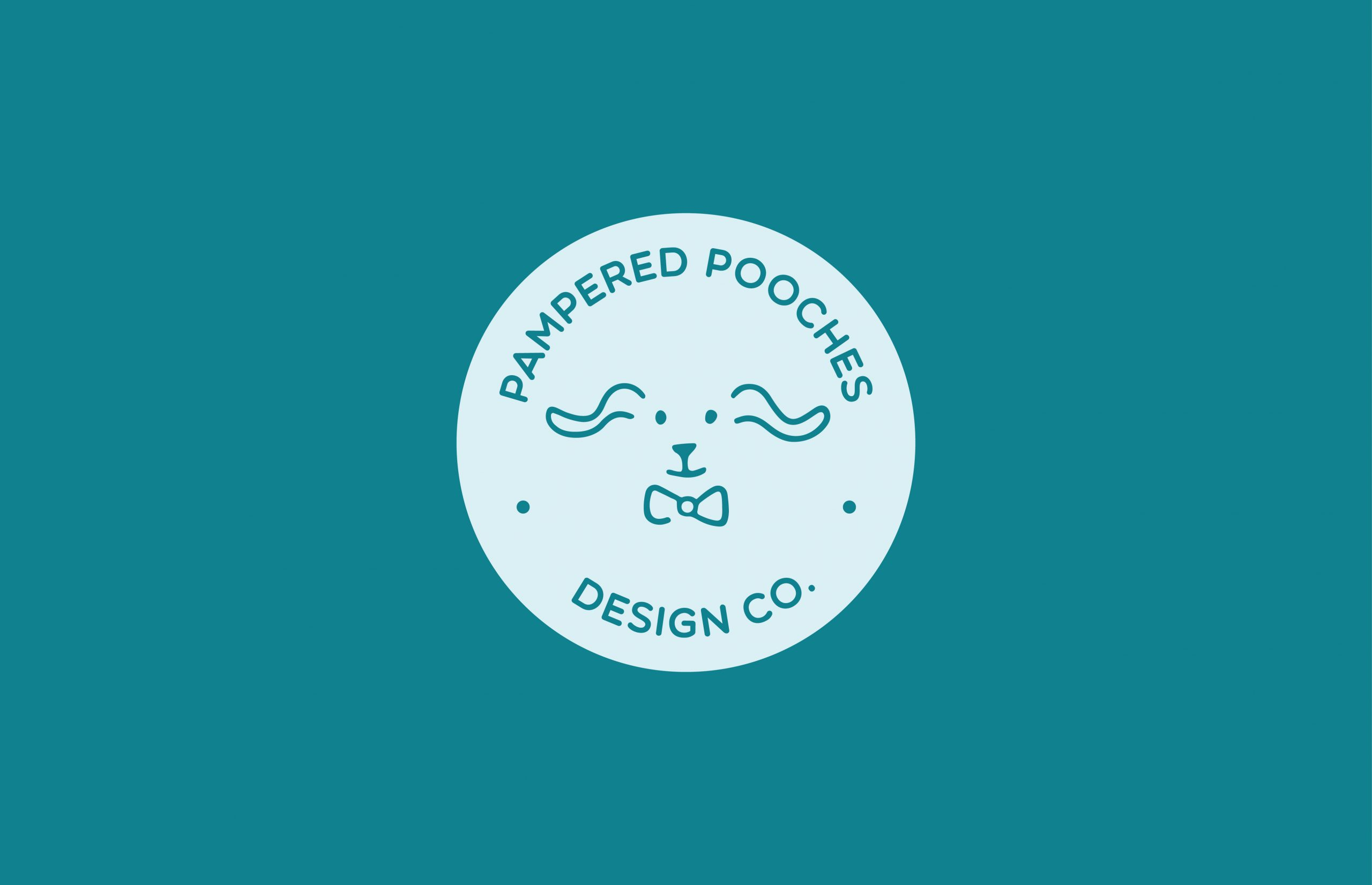 Pampered Pooches Design Company logo