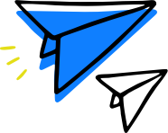 blue and white paper airplanes