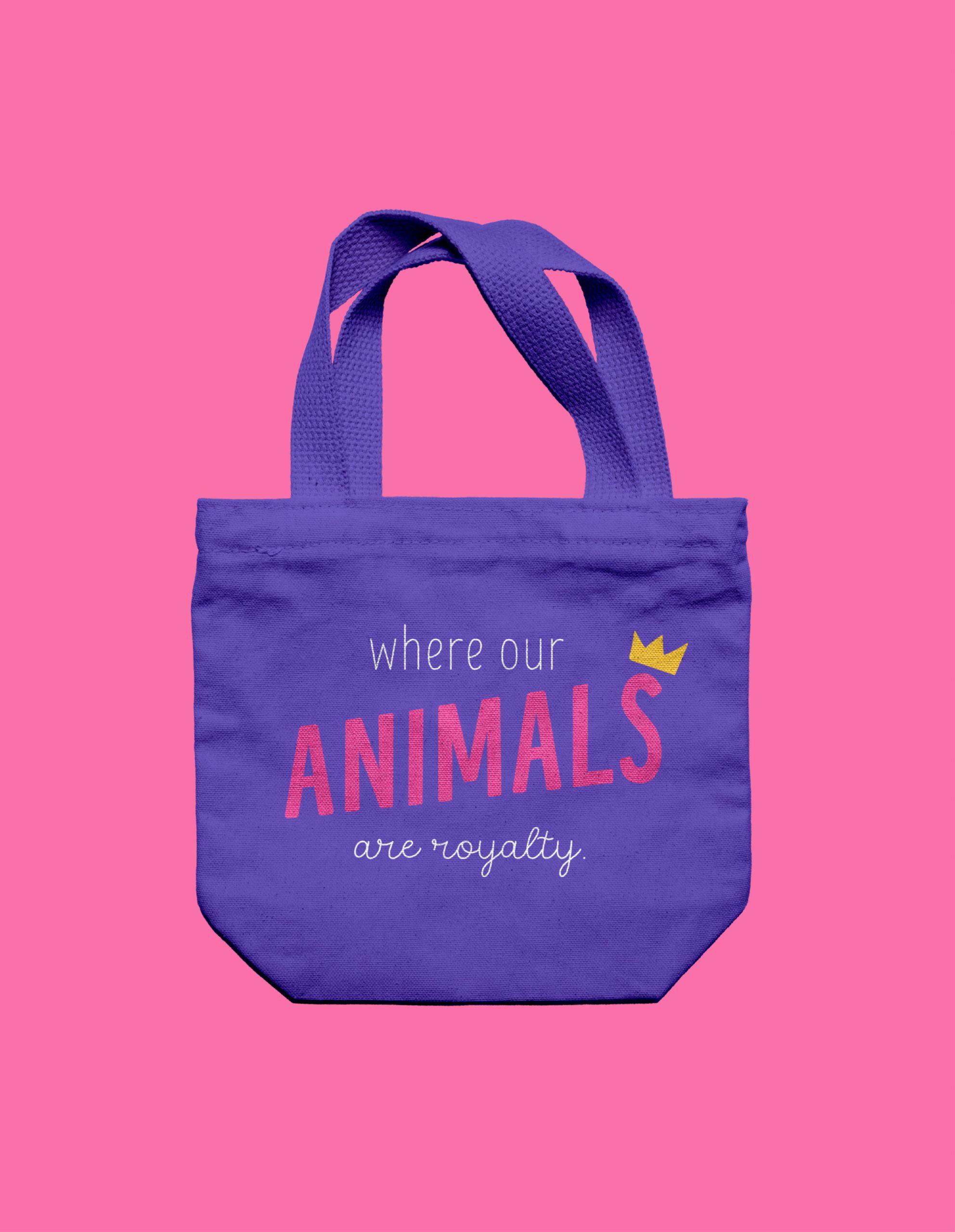 purple canvas bag