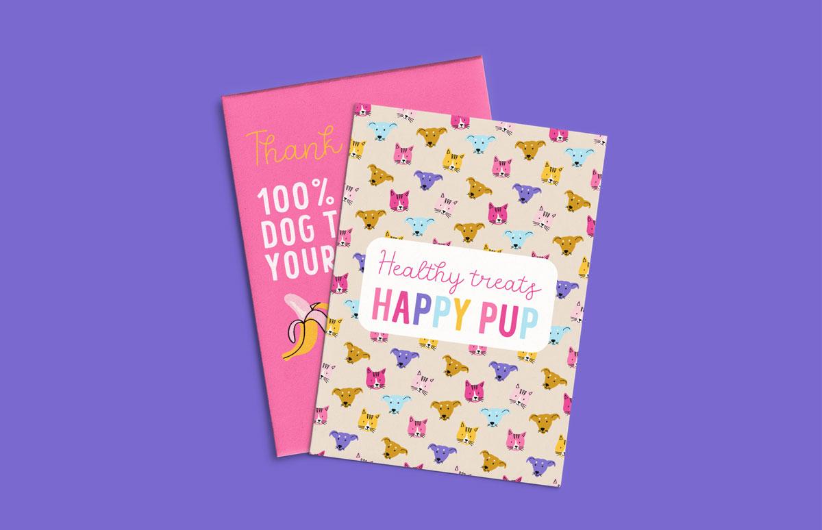 pink, yellow, orange pattern cards