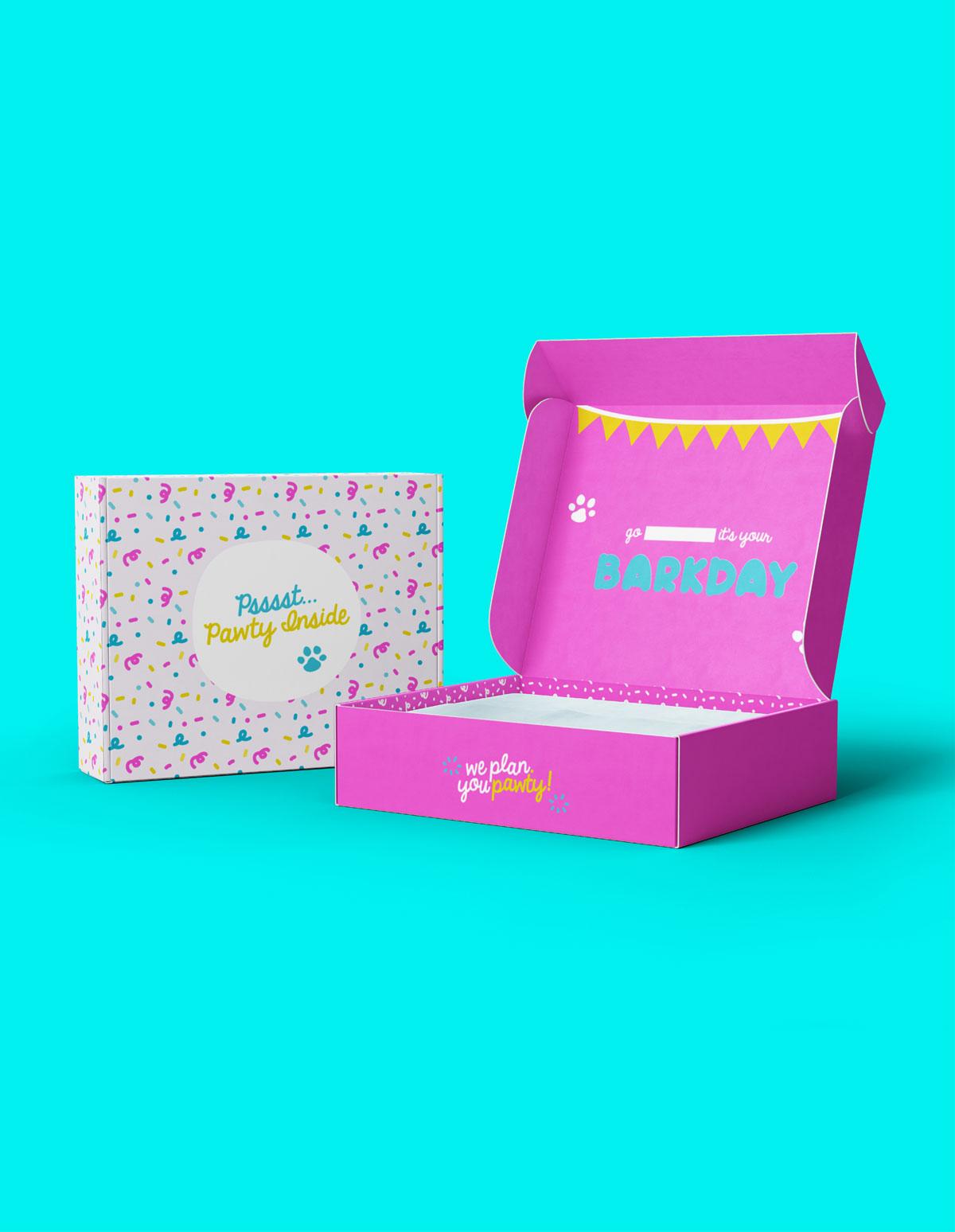 Bark day pink gift box