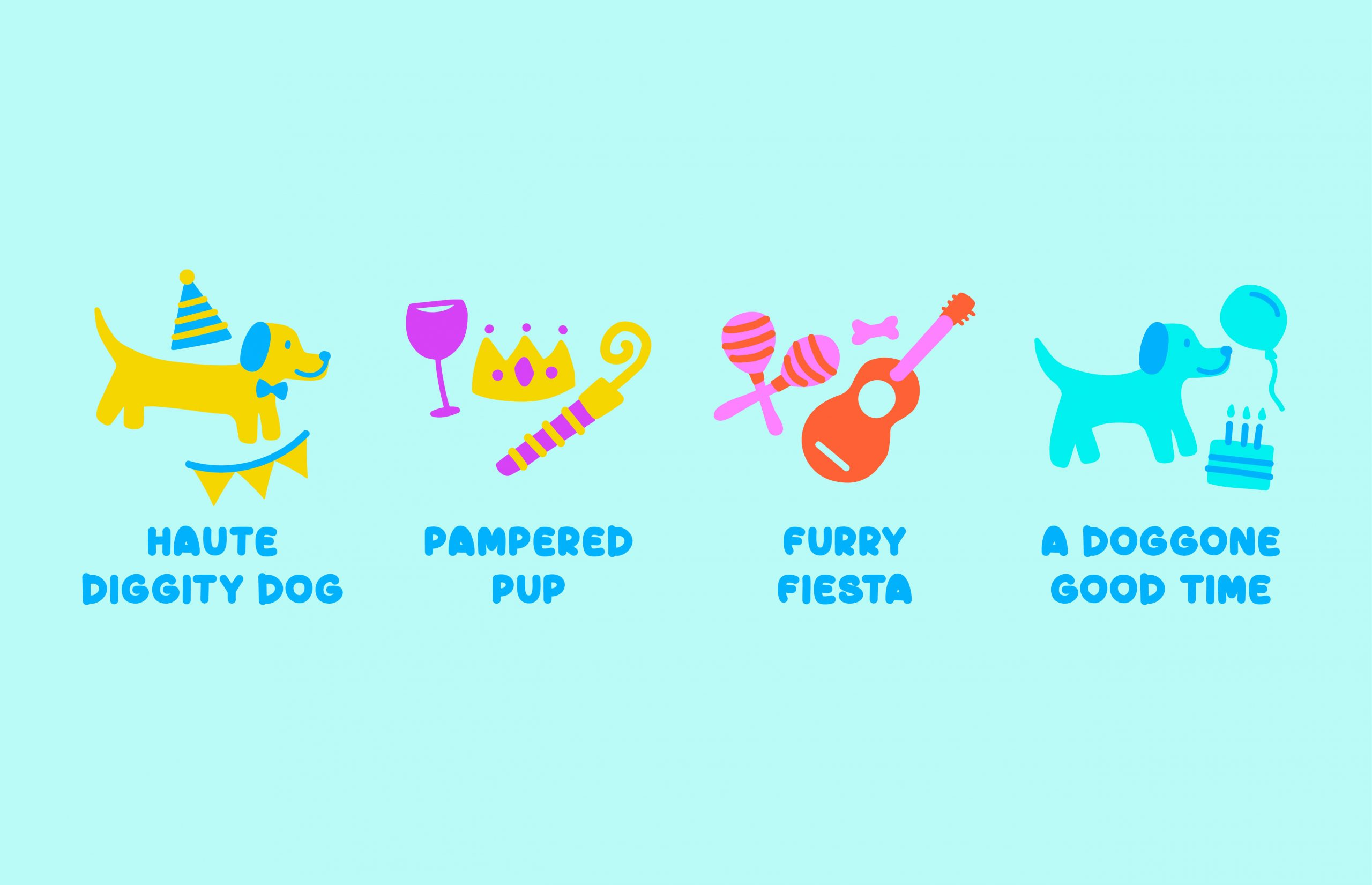 four dog part icons