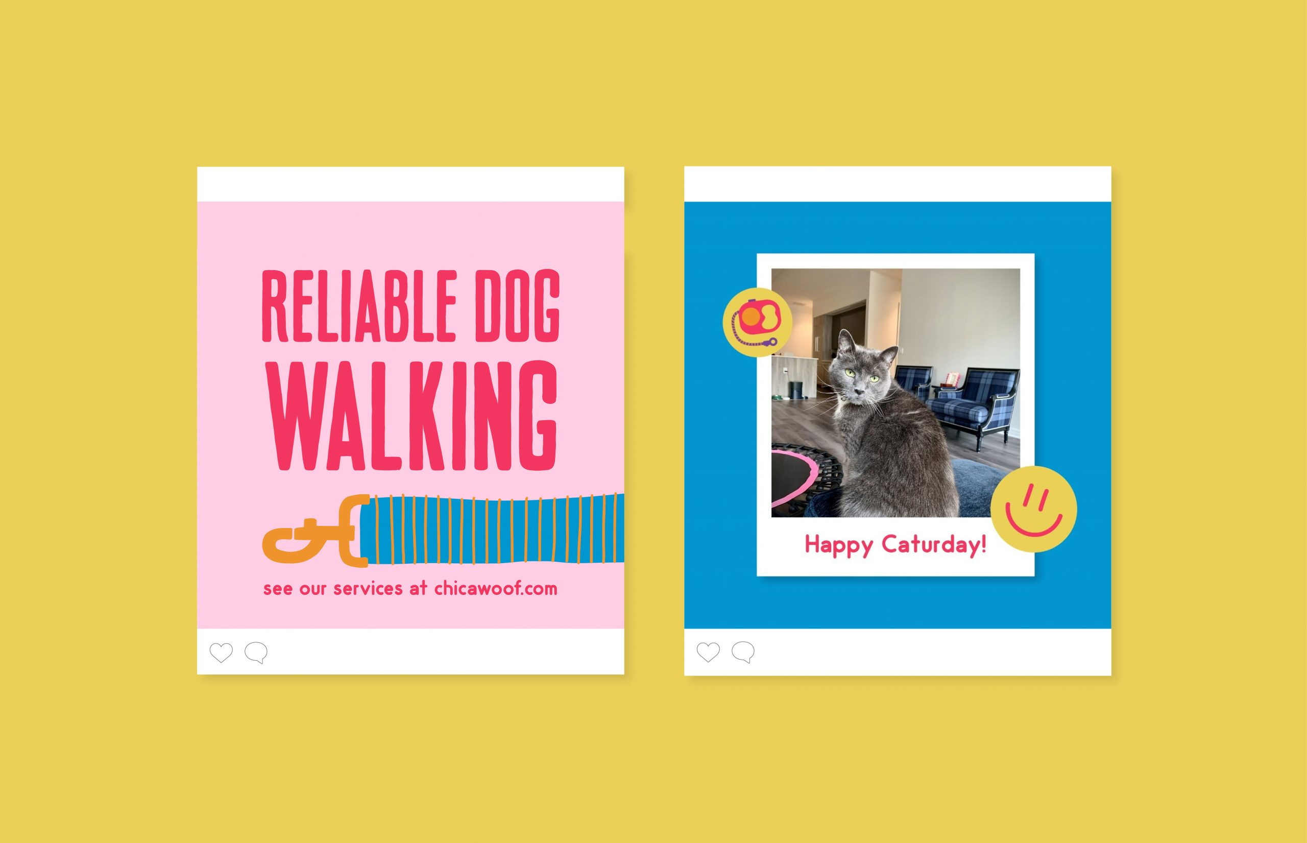 Reliable Dog Walking instagram ad