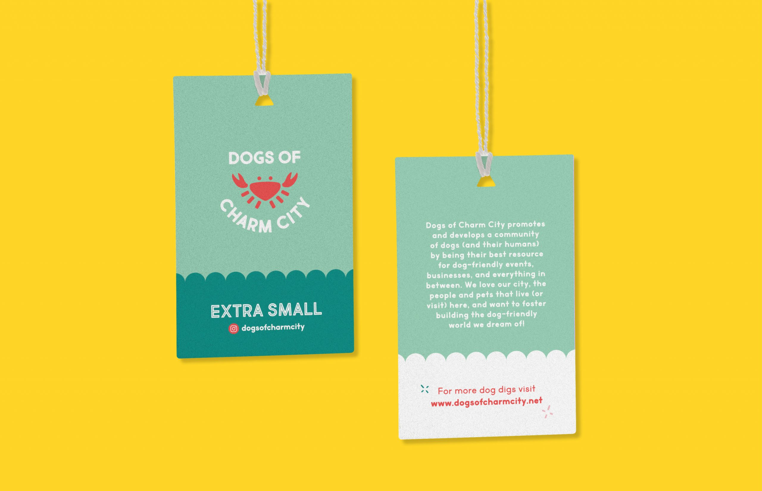 Dogs of Charm City logo tags