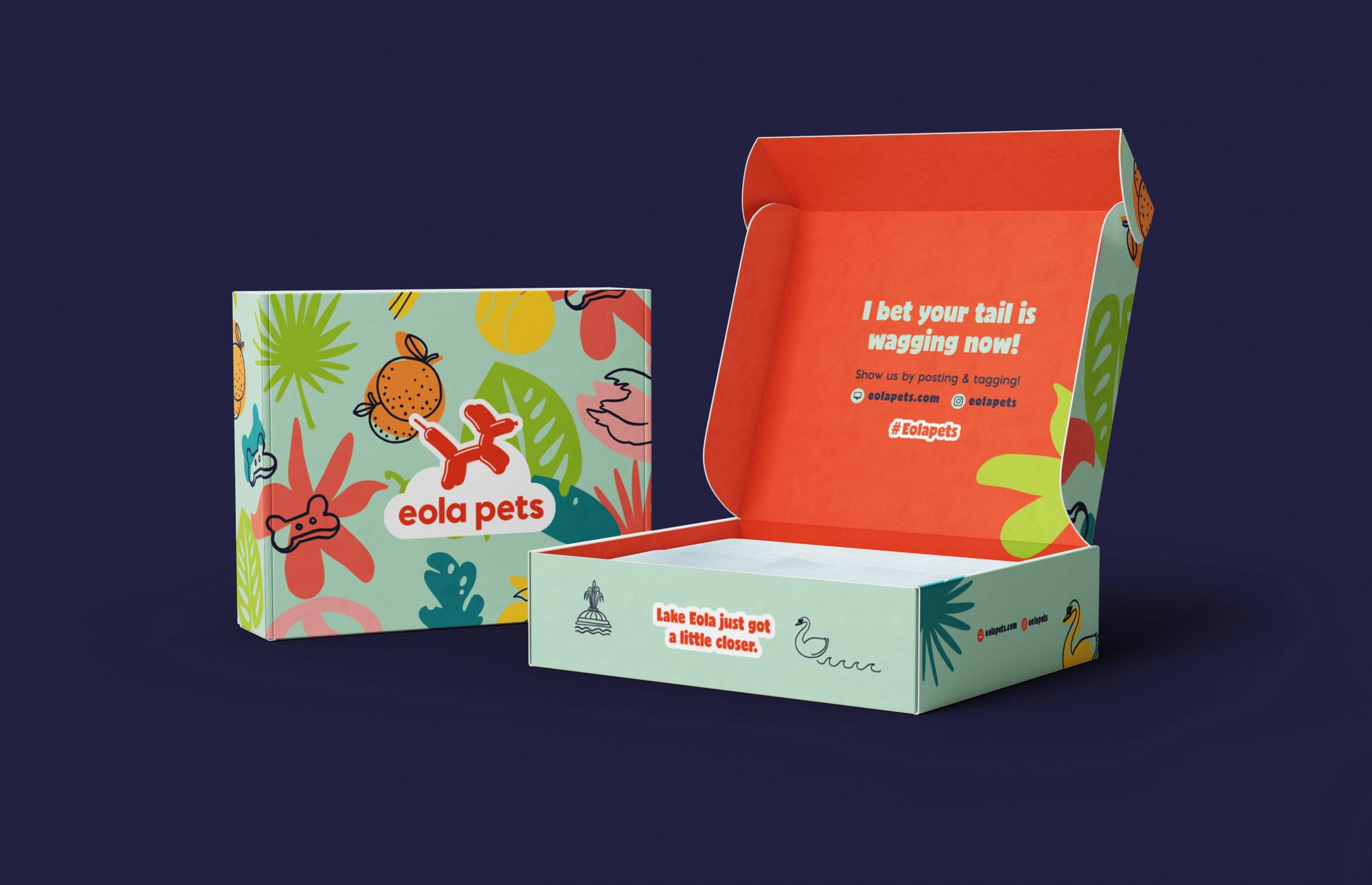 Eola Pets pattern gift box