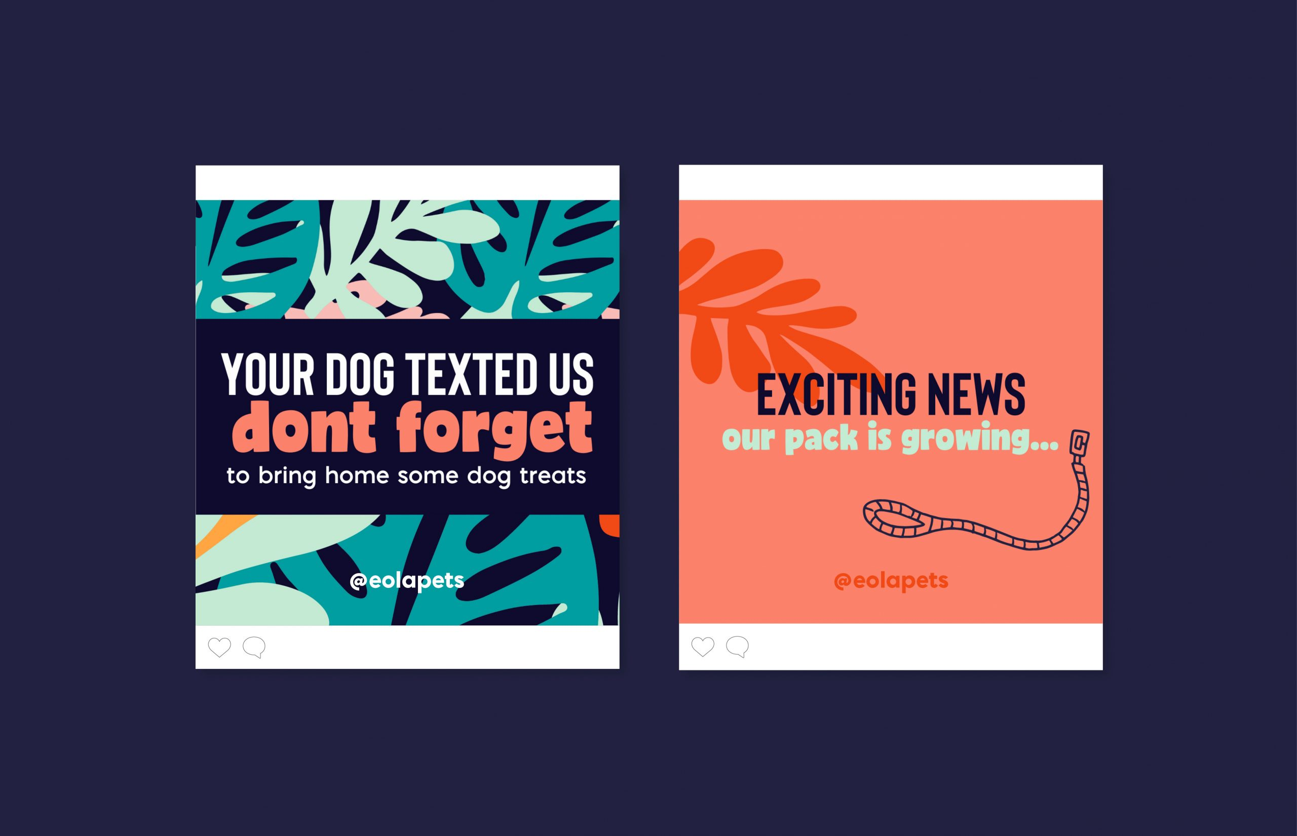Your dog text us don't forget to bring home some dog treats instagram ad