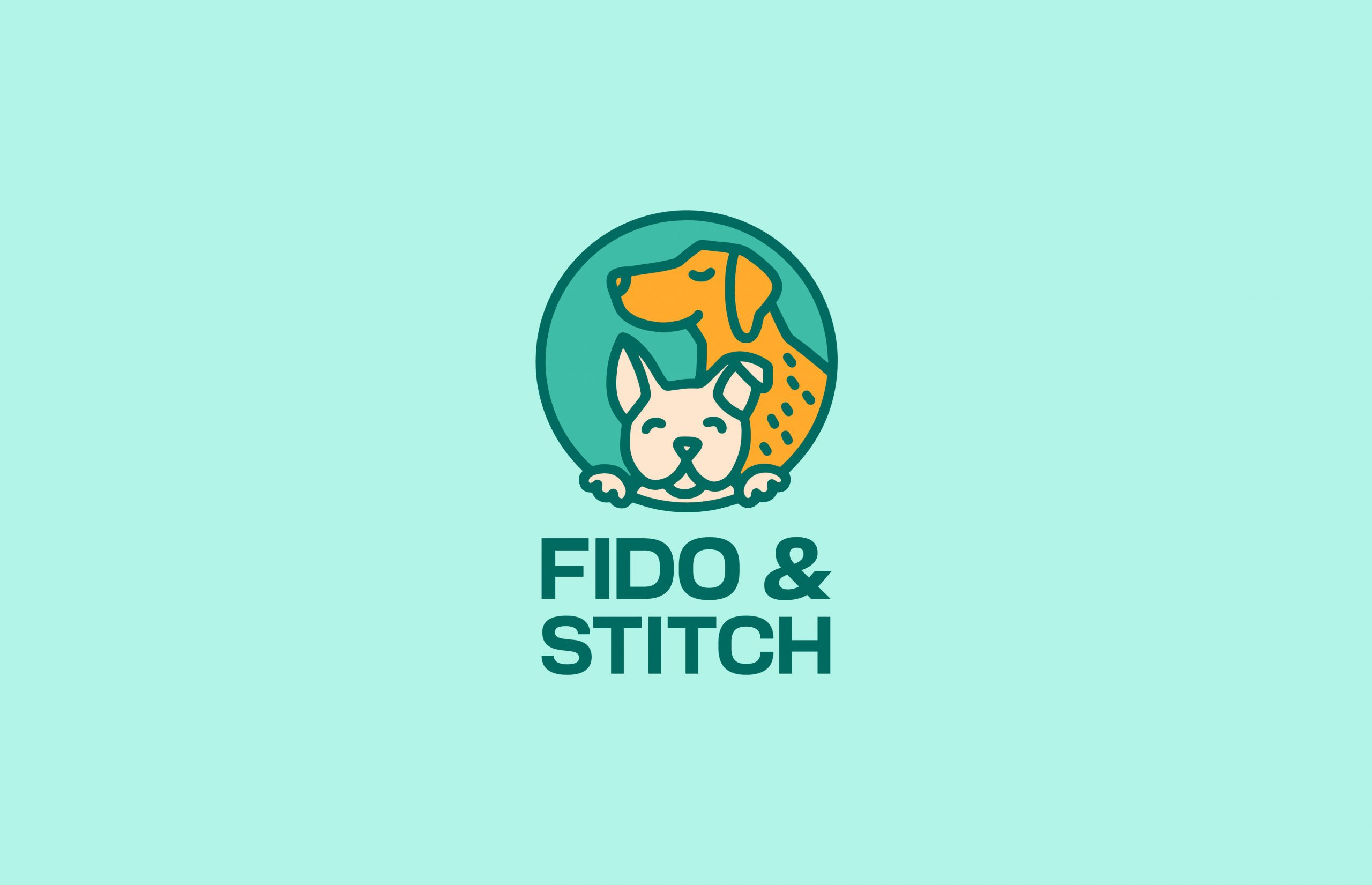 Two dogs, Fido and Stitch