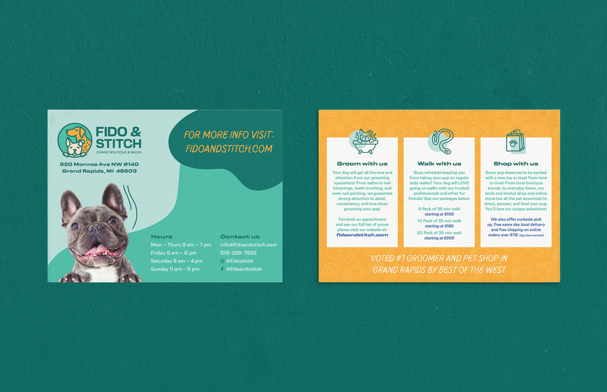 dog flyer with information