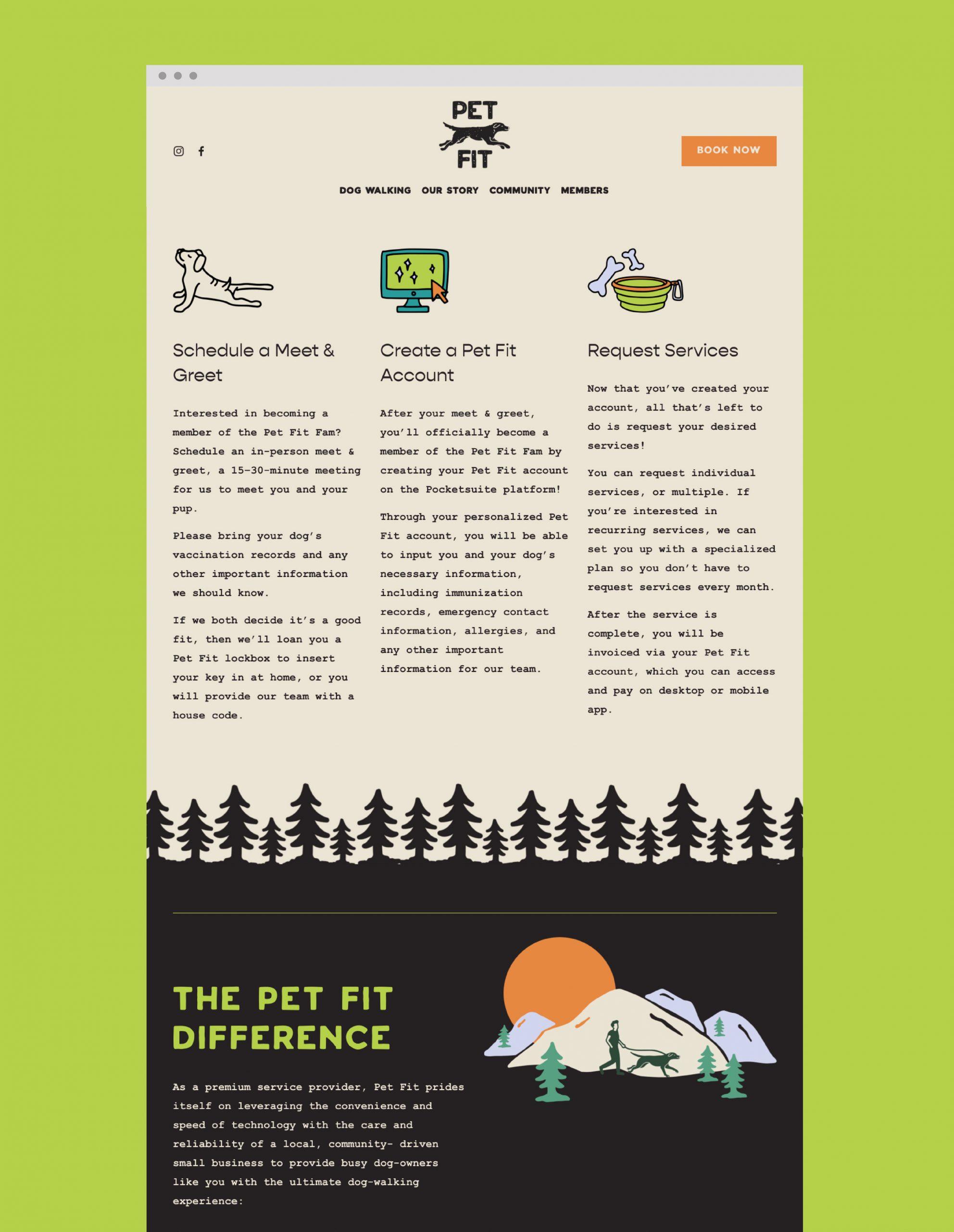Pet Fit website