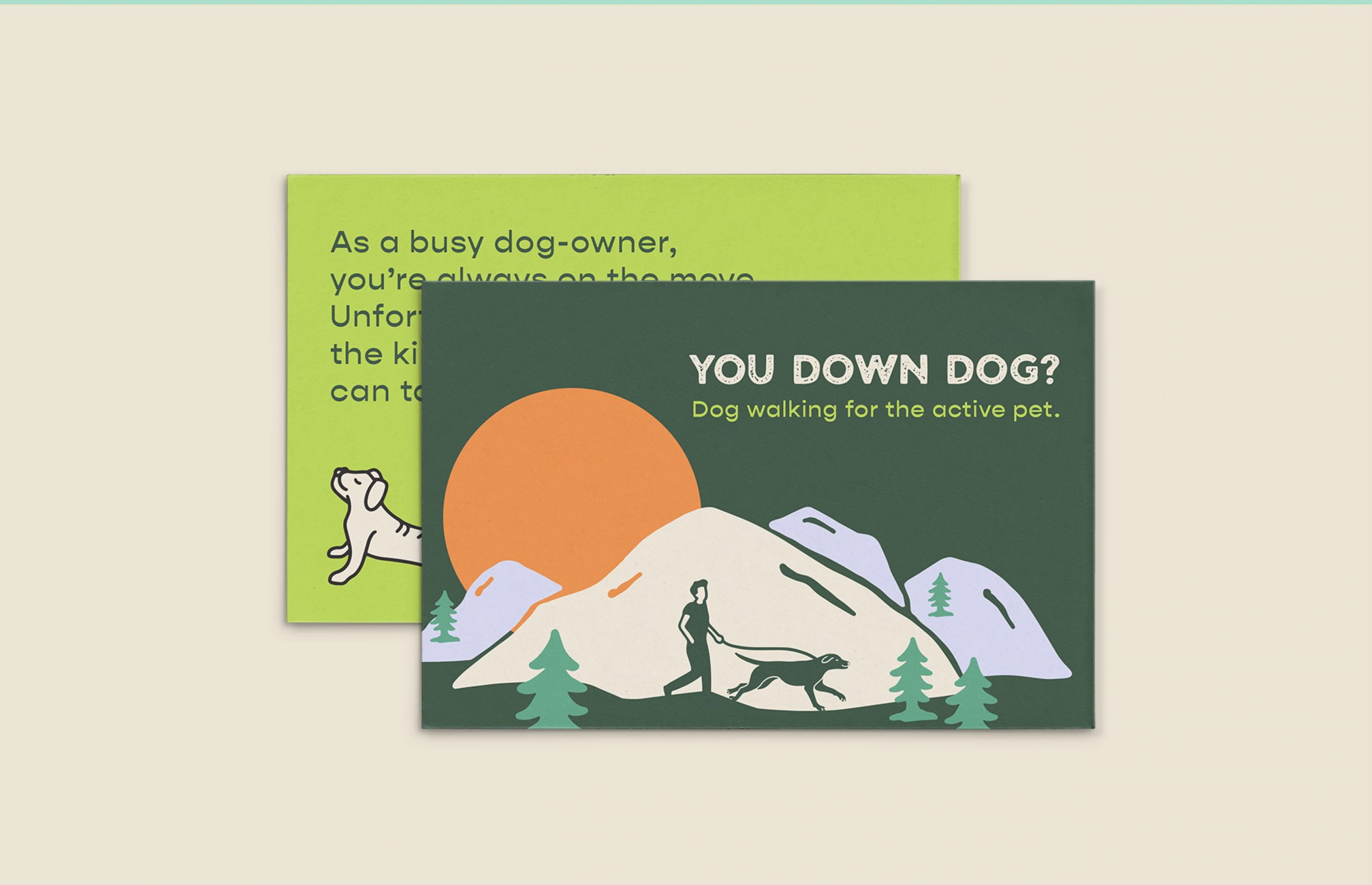 You down dog sales card