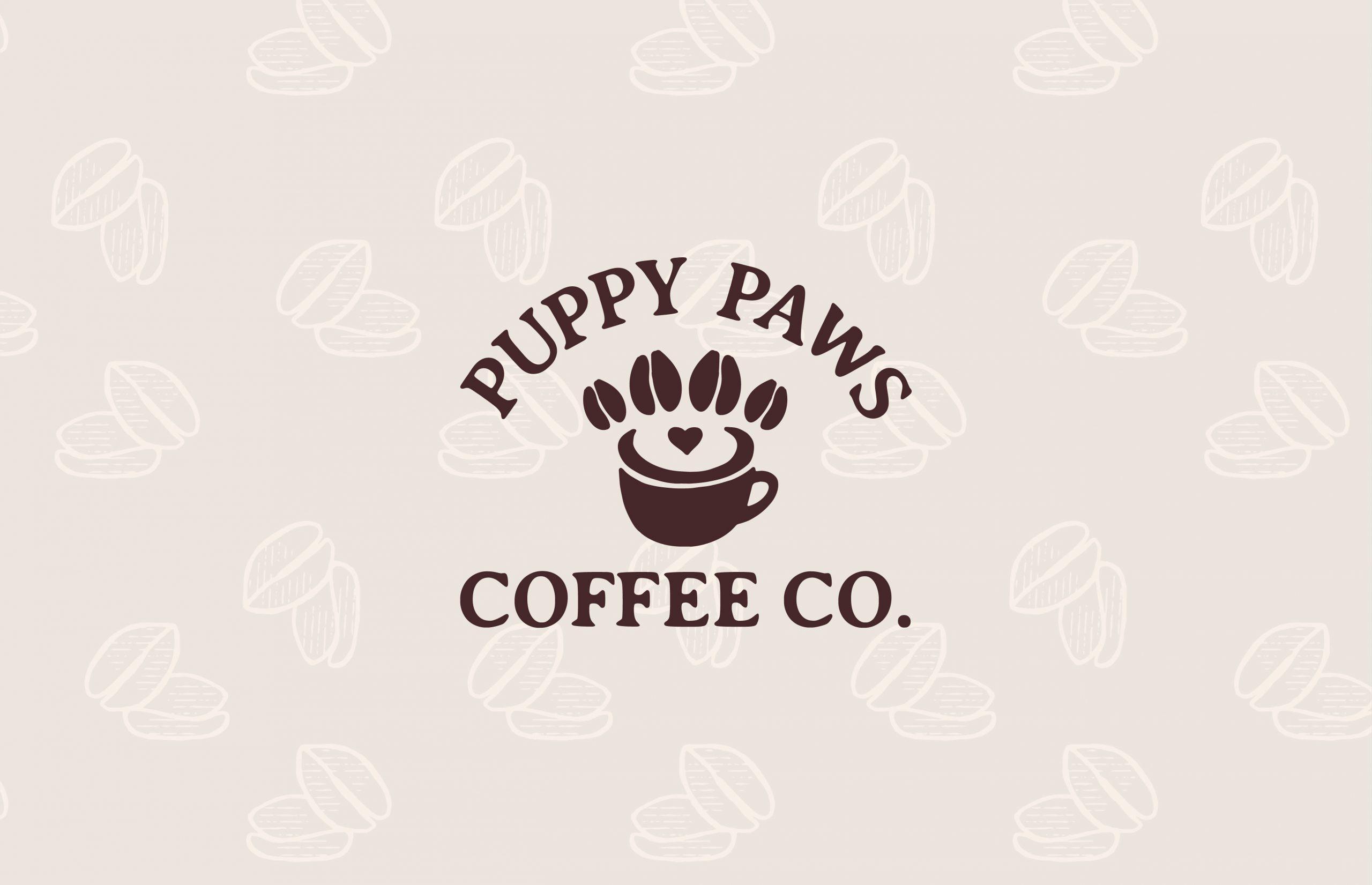 Puppy Paws coffee mug logo