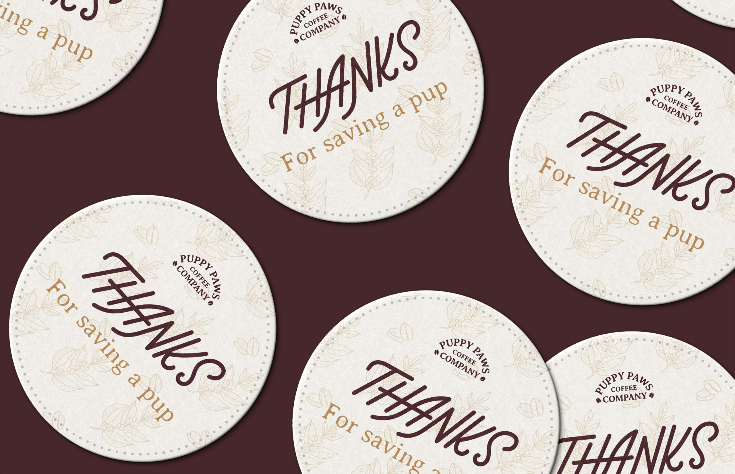 coasters that say Thanks for saving a pup