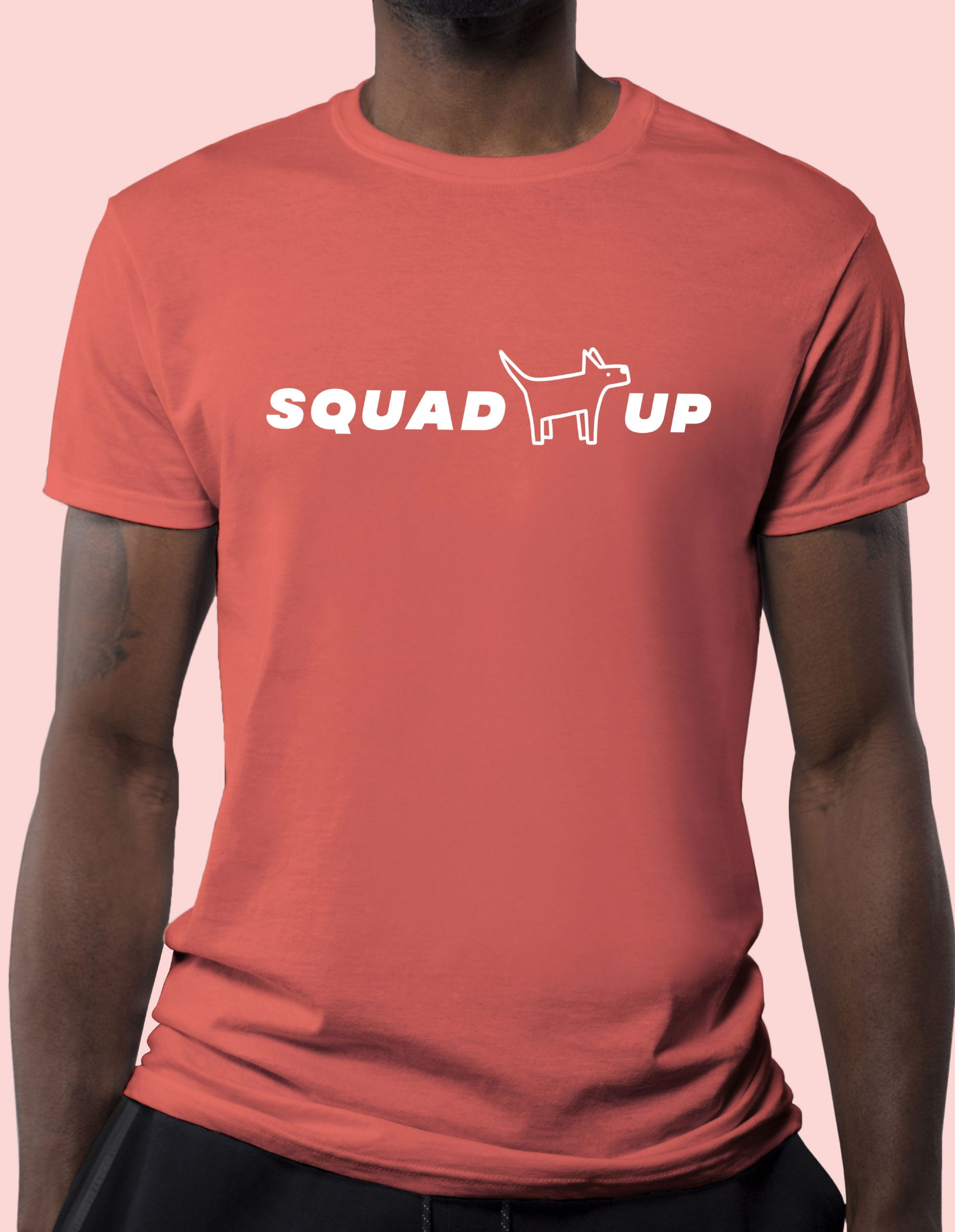 squad up red tee shirt