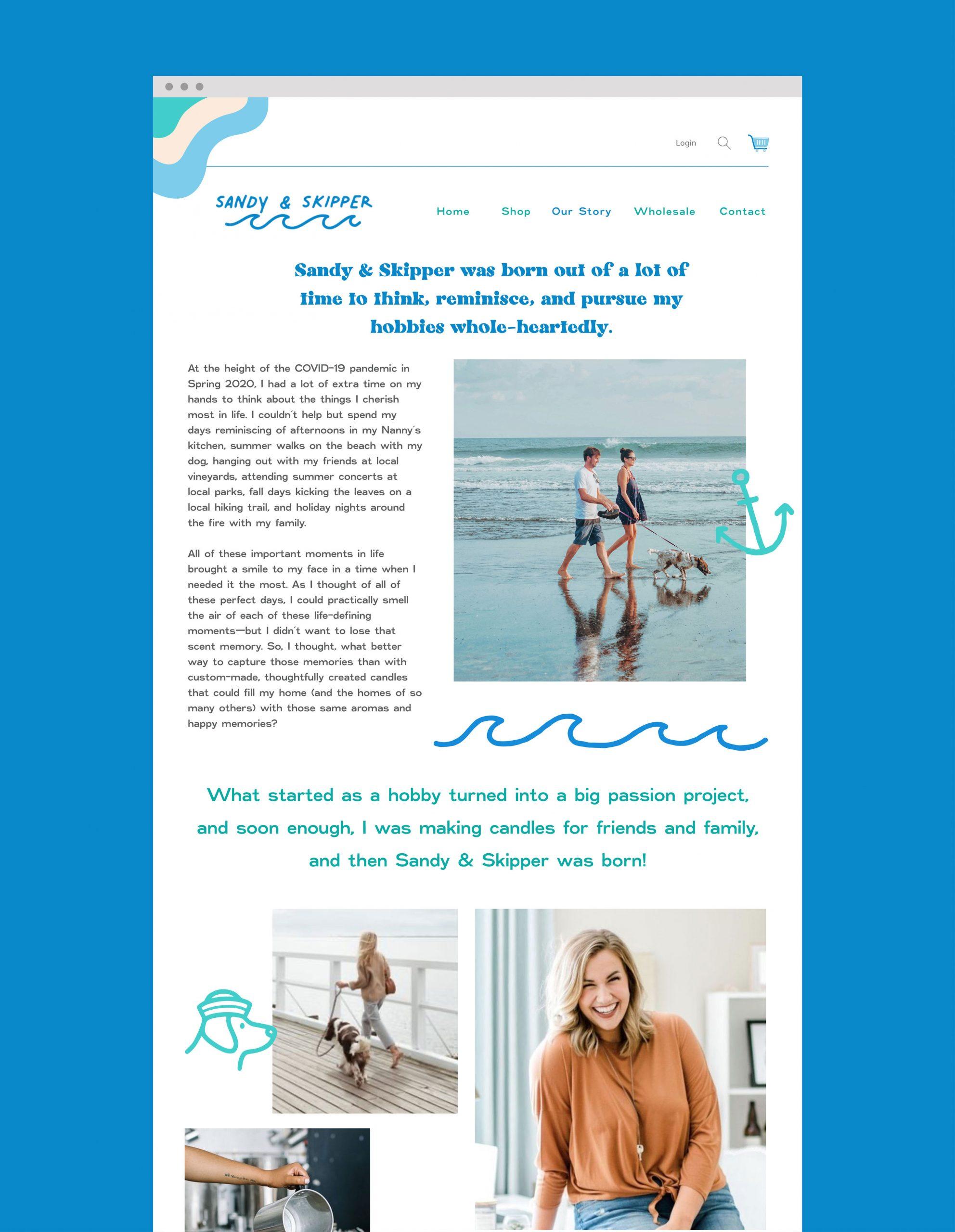 Sandy And Skipper website