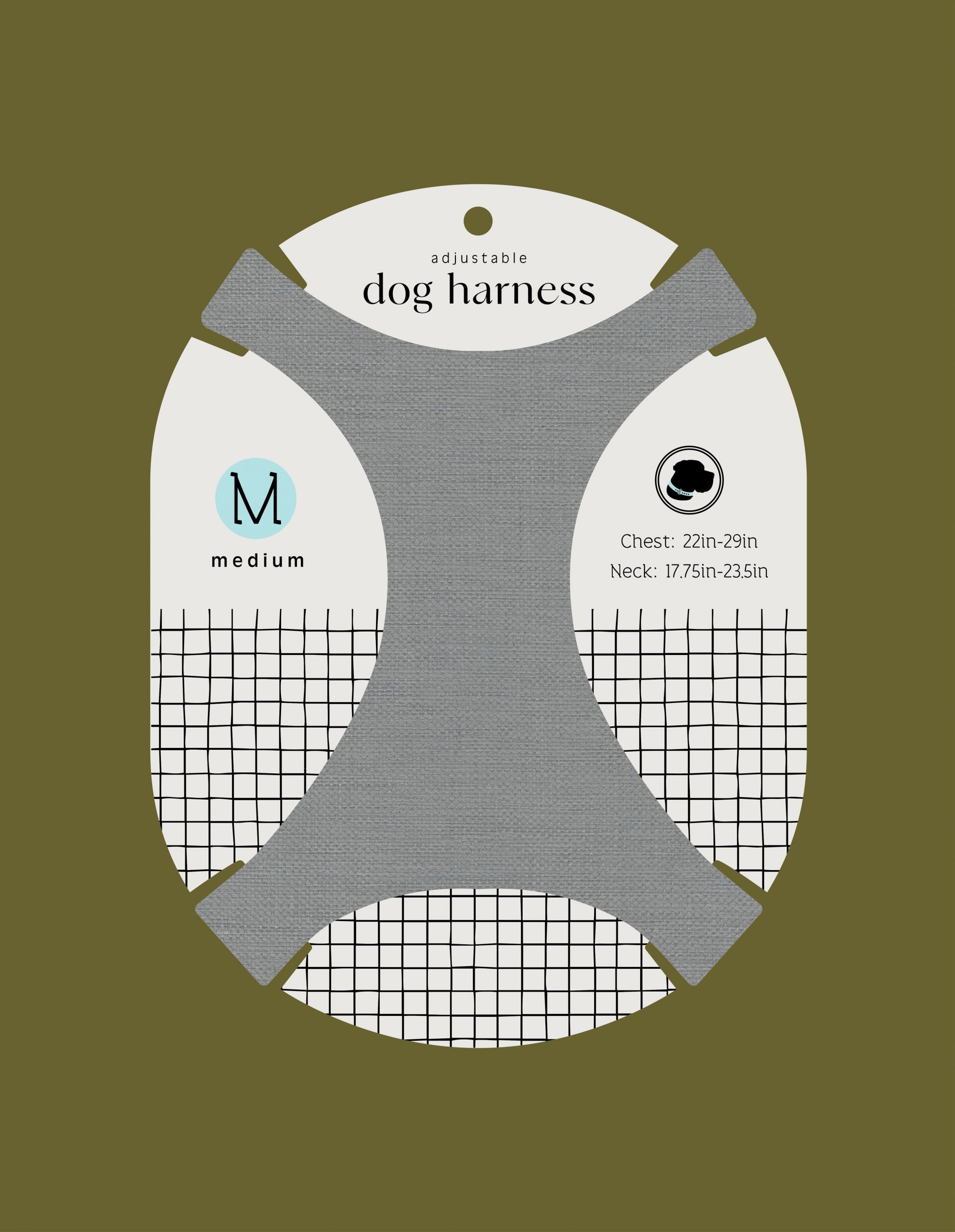 Adjustable dog harness packaging