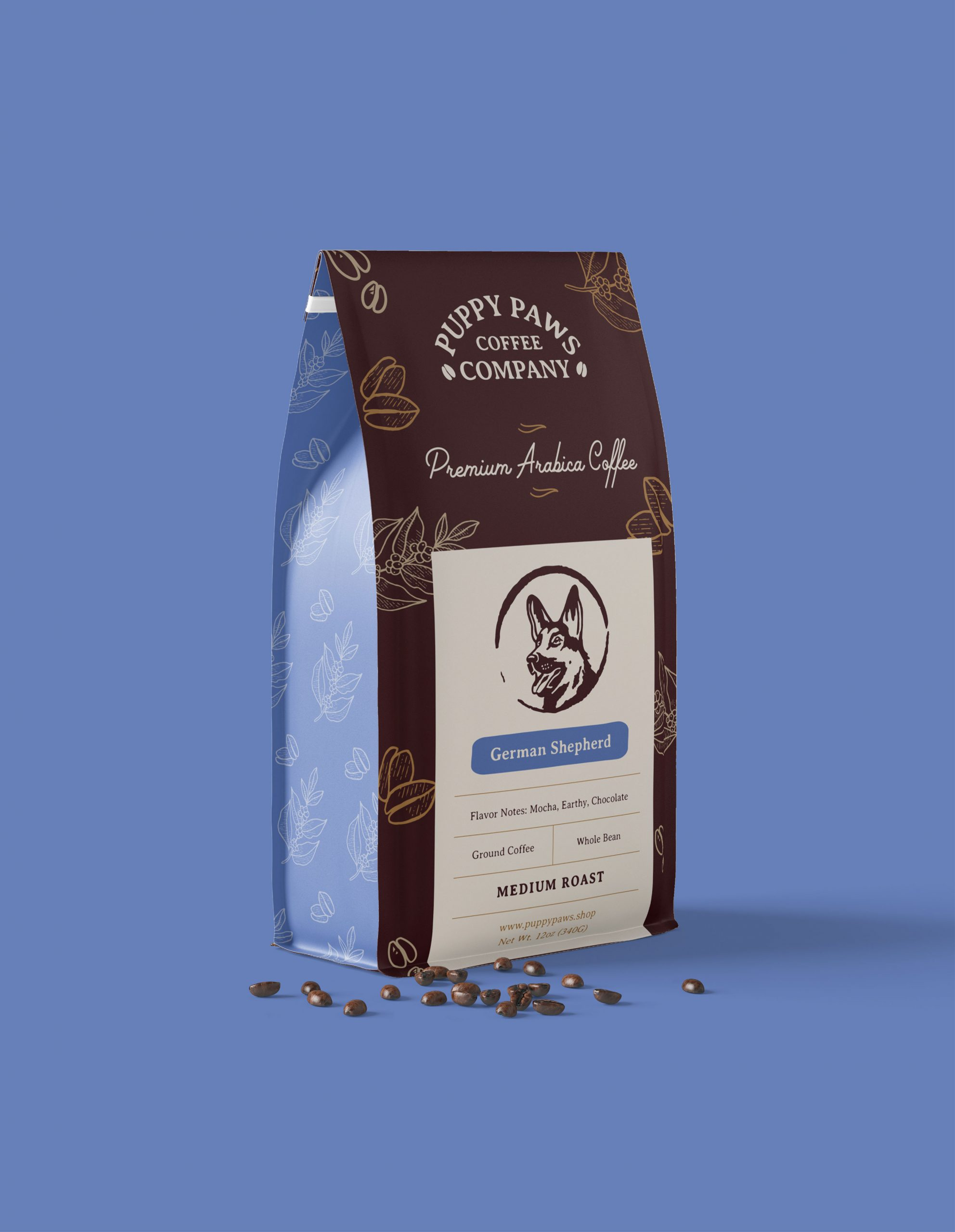 Puppy Paws Coffee Company premium bag of coffee