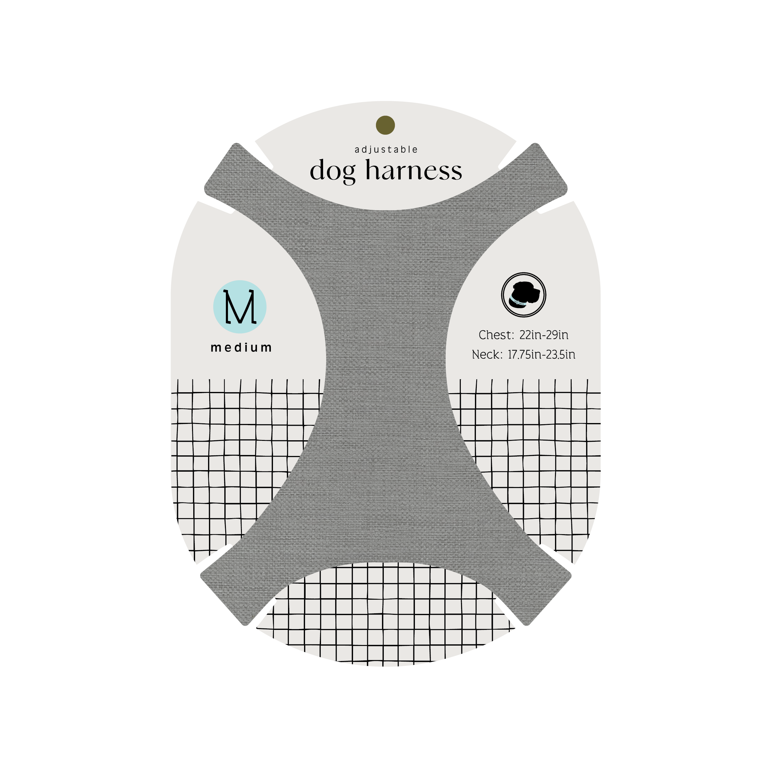 Adjustable dog harness and packaging